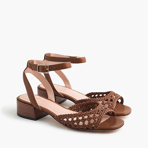 J. Crew Shoes - J CREW Alice Braided Sandal W/Stacked Heel Sz: 9.5